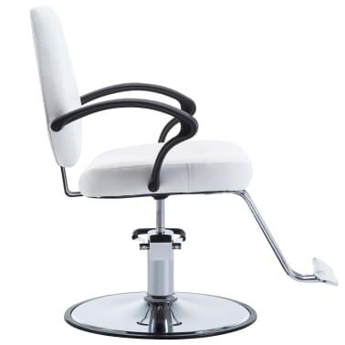 vidaXL Fotel barberski ze sztucznej skóry, biały[3/8]