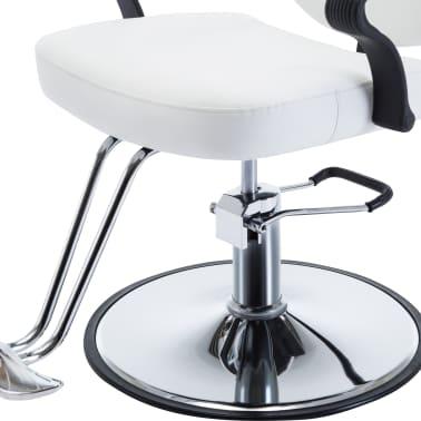 vidaXL Kirpėjo kėdė, dirbtinė oda, balta[5/8]