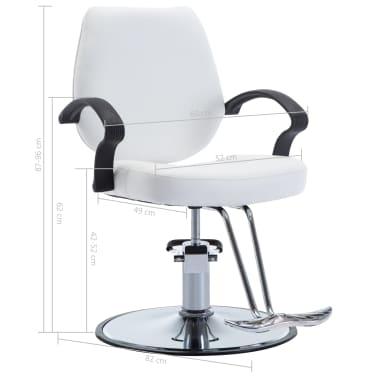 vidaXL Fotel barberski ze sztucznej skóry, biały[8/8]