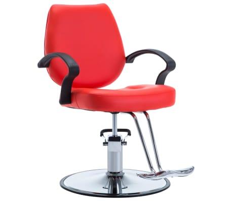 vidaXL Fotel barberski ze sztucznej skóry, czerwony