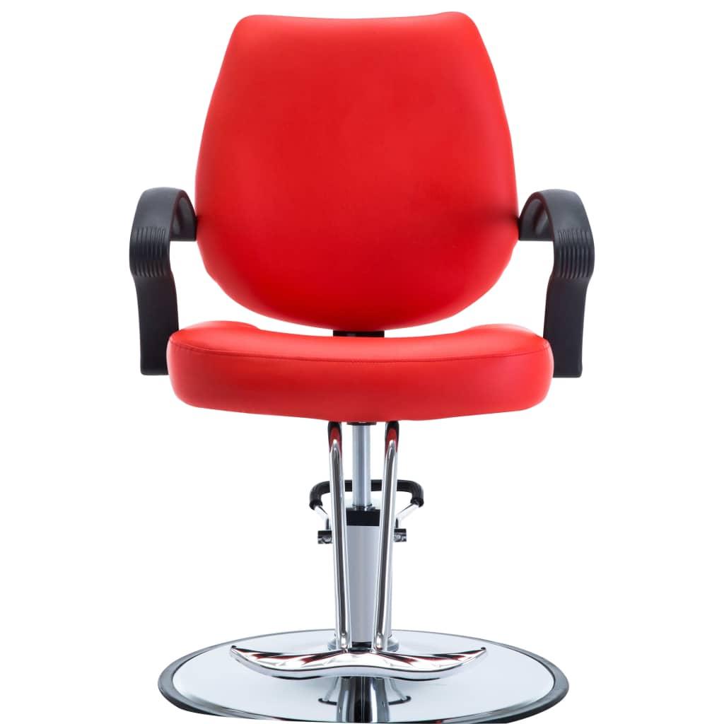 99110163 Friseurstuhl Lederimitat Rot