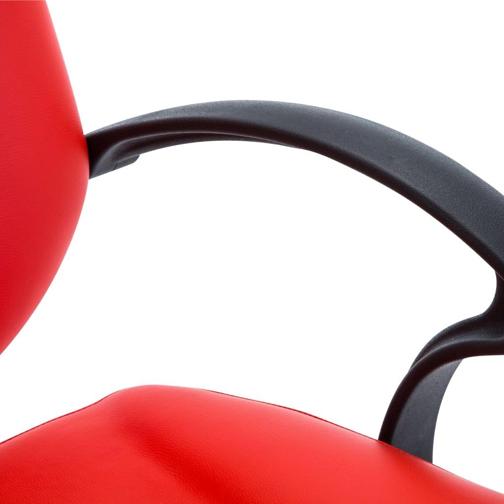 vidaXL Kadeřnické křeslo z umělé kůže červené