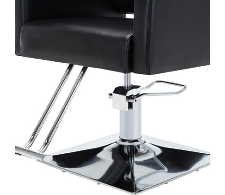 vidaXL Fotel barberski ze sztucznej skóry, czarny[6/7]