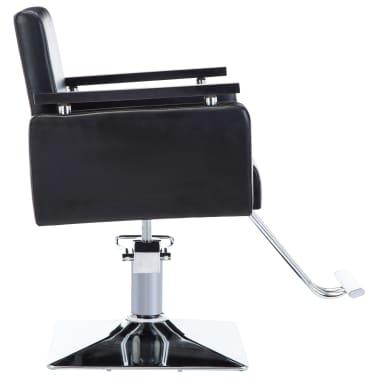 vidaXL Frizerski stol iz umetnega usnja črne barve[3/7]