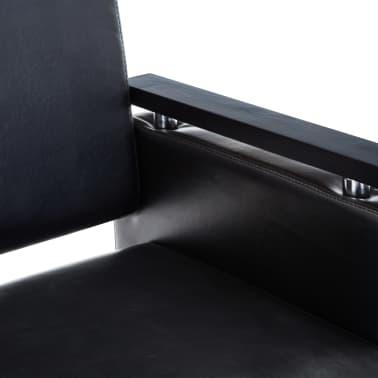 vidaXL Frizerski stol iz umetnega usnja črne barve[4/7]