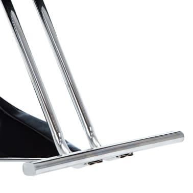 vidaXL Frizerski stol iz umetnega usnja črne barve[5/7]