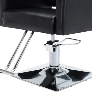 vidaXL Frizerski stol iz umetnega usnja črne barve[6/7]