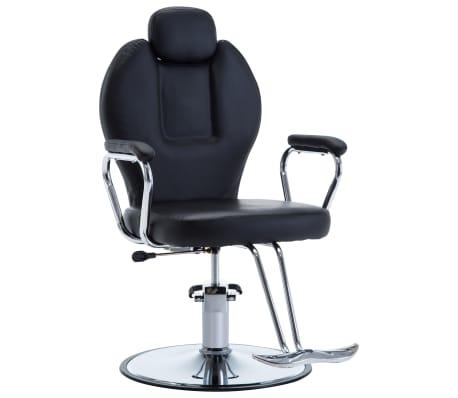 vidaXL Фризьорски стол, изкуствена кожа, черен