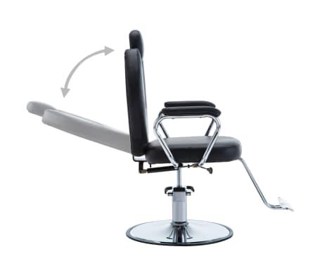 vidaXL Chaise de coiffeur Similicuir Noir[3/8]
