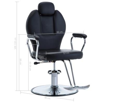 vidaXL Chaise de coiffeur Similicuir Noir[8/8]