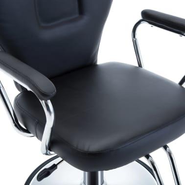 vidaXL Chaise de coiffeur Similicuir Noir[4/8]