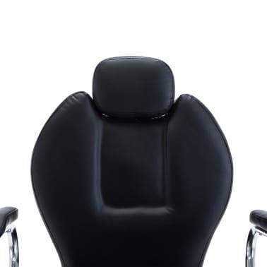 vidaXL Scaun frizer, piele ecologică, negru[6/8]