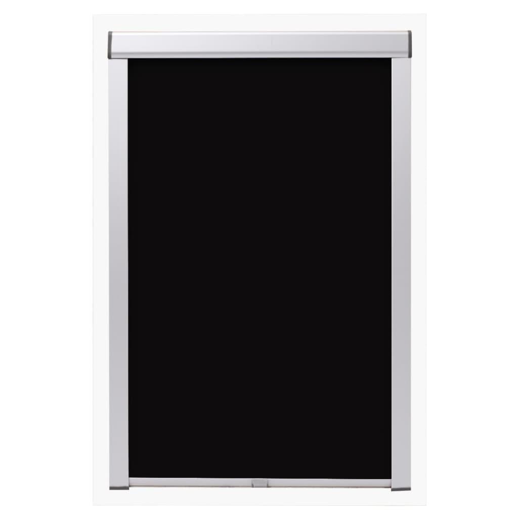 vidaXL Rolgordijn verduisterend zwart MK04