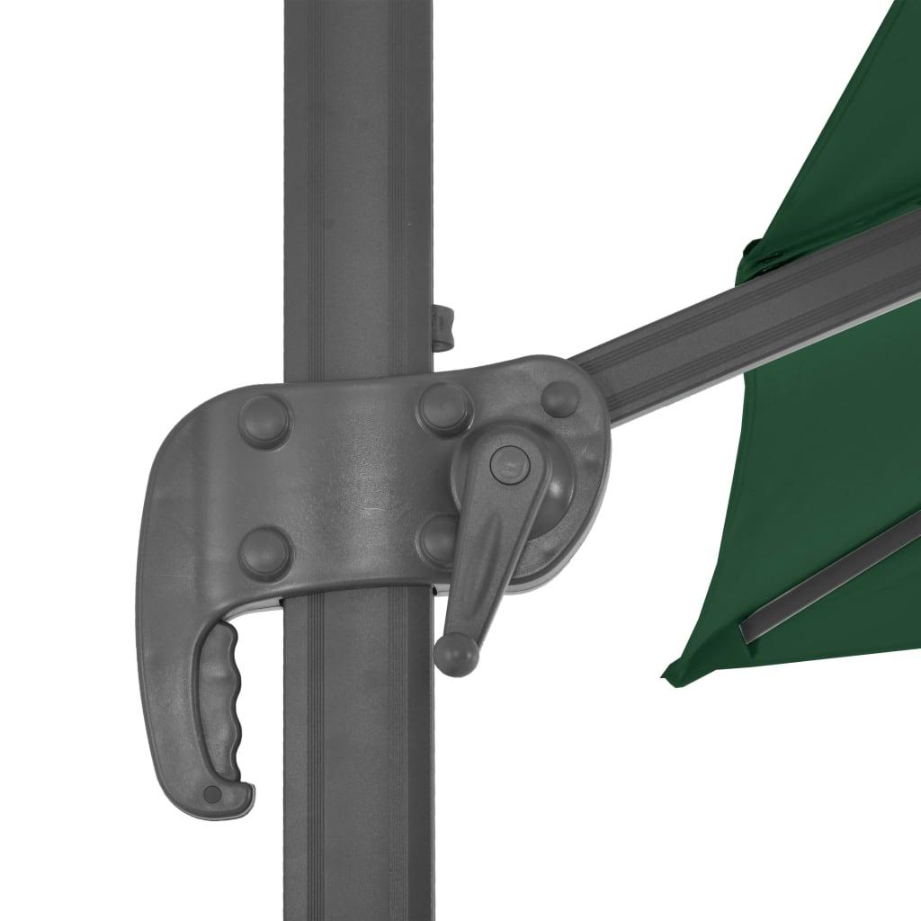 vidaXL Zweefparasol met aluminium paal 400x300 cm groen