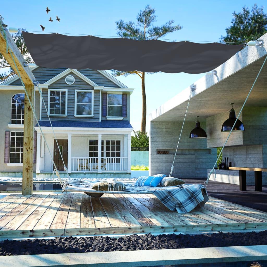 vidaXL Copertină de terasă, gri, 140 x 420 cm, țesătură oxford poza 2021 vidaXL