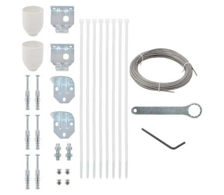 vidaXL 29 Piece Balcony Screen Accessory Set