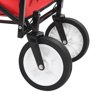 vidaXL Chariot à main pliable Acier Rouge[7/8]