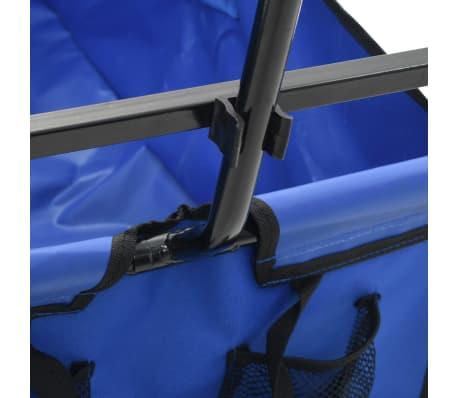 vidaXL Folding Hand Trolley Steel Blue[5/8]