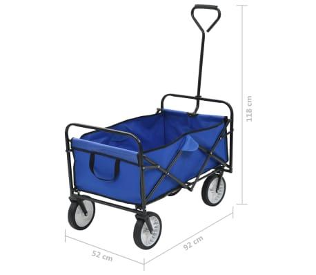 vidaXL Folding Hand Trolley Steel Blue[8/8]