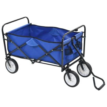 vidaXL Folding Hand Trolley Steel Blue[2/8]