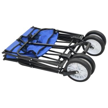vidaXL Folding Hand Trolley Steel Blue[3/8]