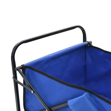 vidaXL Folding Hand Trolley Steel Blue[4/8]