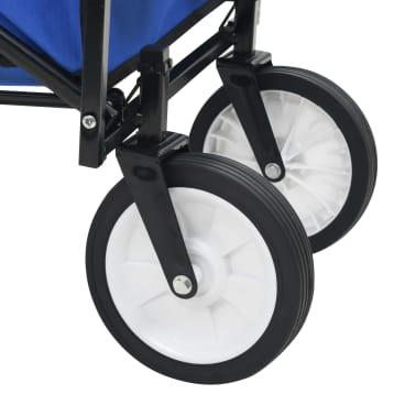 vidaXL Folding Hand Trolley Steel Blue[7/8]