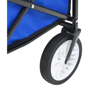 vidaXL Folding Hand Trolley with Canopy Steel Blue[7/8]