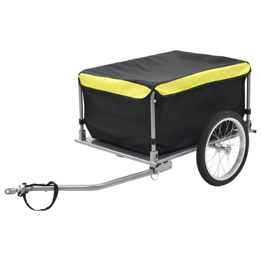 vidaXL Přívěsný vozík za kolo černožlutý 65 kg