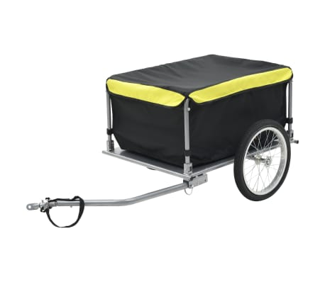 vidaXL Bike Cargo Trailer Black and Yellow 65 kg