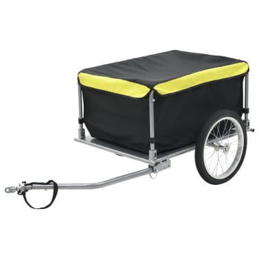 vidaXL Fahrrad-Lastenanhänger Schwarz und Gelb 65 kg[1/6]