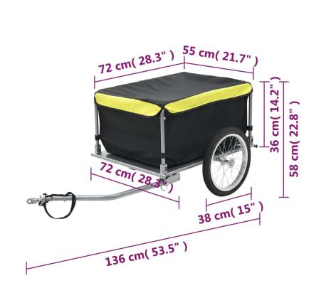 vidaXL Fahrrad-Lastenanhänger Schwarz und Gelb 65 kg[6/6]