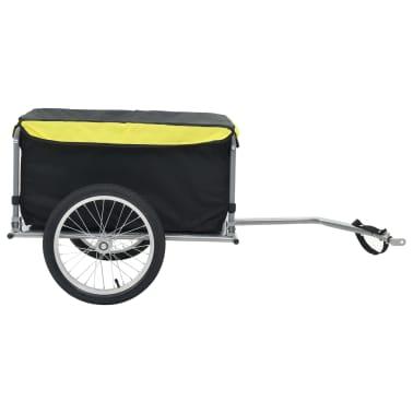 vidaXL Fahrrad-Lastenanhänger Schwarz und Gelb 65 kg[2/6]