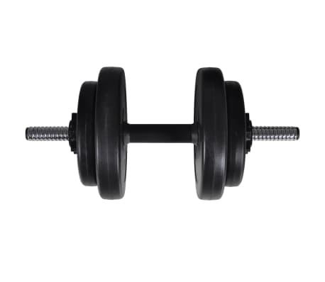 vidaXL Banc d'entraînement avec jeu d'haltères et de disques de poids 60,5 kg[11/12]