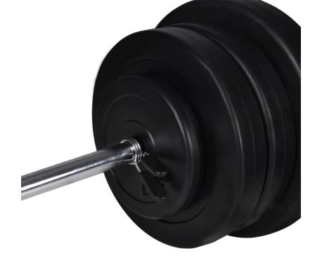 vidaXL Banc d'entraînement avec jeu d'haltères et de disques de poids 60,5 kg[12/12]