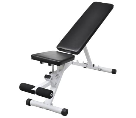 vidaXL Banc d'entraînement avec jeu d'haltères et de disques de poids 60,5 kg[5/12]