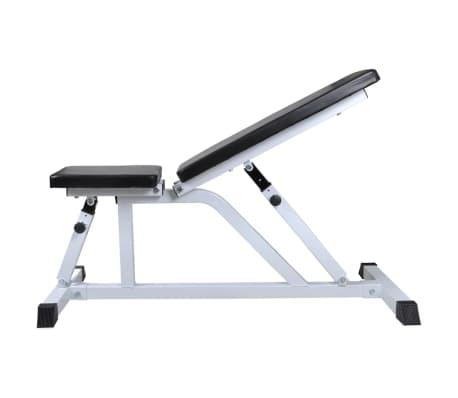 vidaXL Banc d'entraînement avec jeu d'haltères 30,5 kg[3/10]
