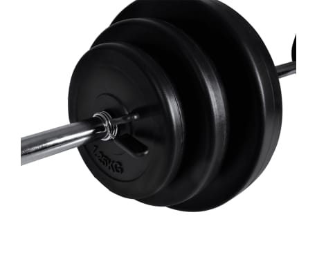 vidaXL Banc d'entraînement avec jeu d'haltères 30,5 kg[10/10]