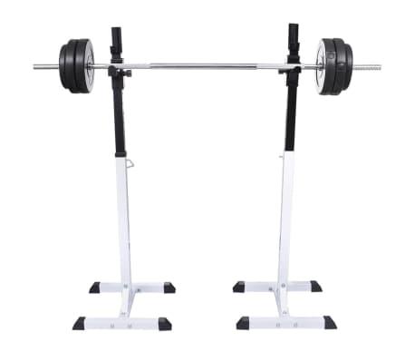vidaXL Kniebeugen-/Langhantelständer mit Hantel-Set 30,5 kg[2/9]