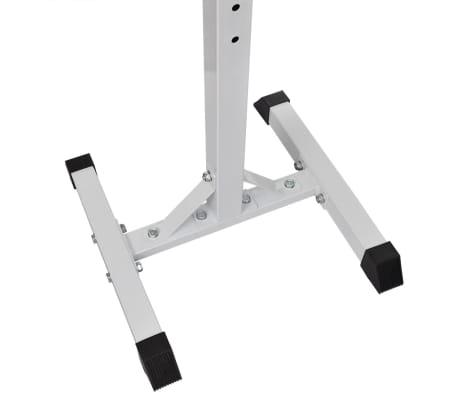 vidaXL Kniebeugen-/Langhantelständer mit Hantel-Set 30,5 kg[4/9]
