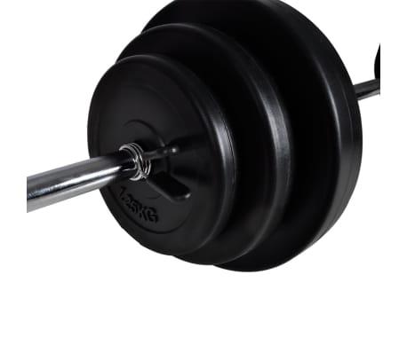 vidaXL Kniebeugen-/Langhantelständer mit Hantel-Set 30,5 kg[9/9]