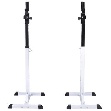 vidaXL Barbell Squat Rack with Barbell and Dumbbell Set 30.5 kg[3/9]