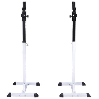 vidaXL Kniebeugen-/Langhantelständer mit Hantel-Set 30,5 kg[3/9]