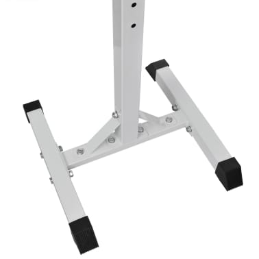 vidaXL Barbell Squat Rack with Barbell and Dumbbell Set 30.5 kg[4/9]