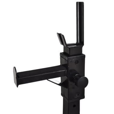 vidaXL Kniebeugen-/Langhantelständer mit Hantel-Set 30,5 kg[5/9]