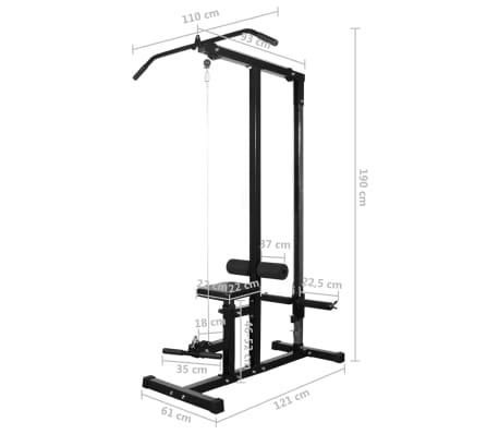 vidaXL Tour de musculation avec jeu d'haltères et poids 60,5 kg[10/10]