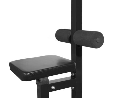 vidaXL Tour de musculation avec jeu d'haltères et poids 60,5 kg[3/10]