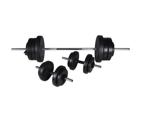 vidaXL Tour de musculation avec jeu d'haltères et poids 60,5 kg[6/10]