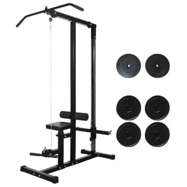vidaXL Máquina de musculación con discos de peso 40 kg[1/8]