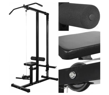 vidaXL Máquina de musculación con discos de peso 40 kg[2/8]